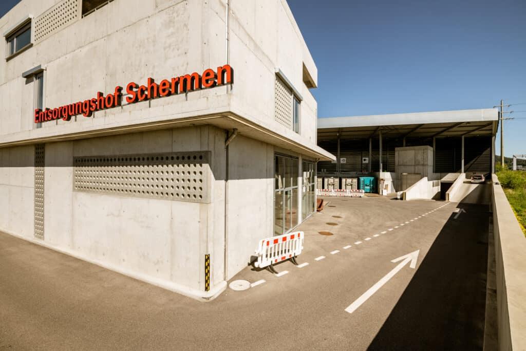 Entsorgungshof Schermen ©Stadt Bern